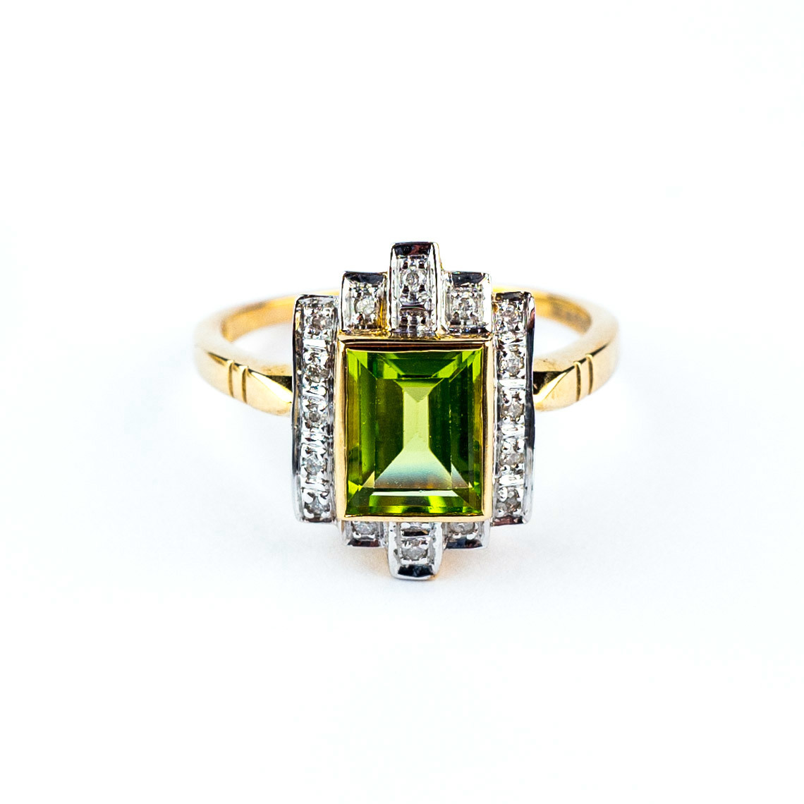 engagement il set in cut diamond rings peridot sets wedding fullxfull round yellow gold cltk bridal ring solid band and