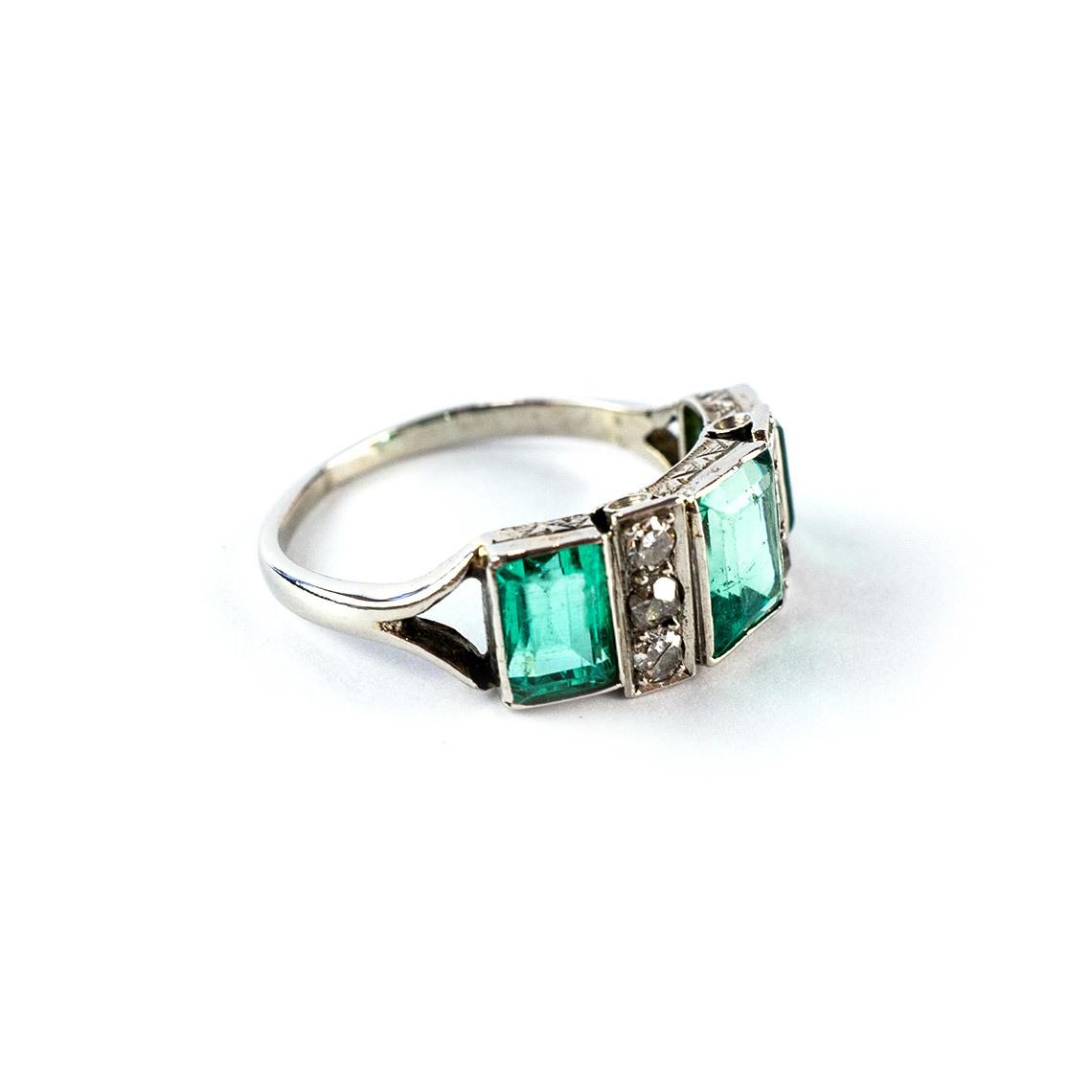 Platinum Art Deco Ring