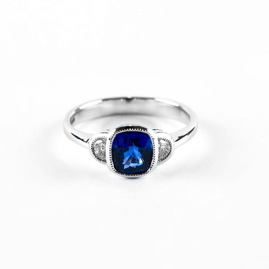 094e2b28c8 White Gold Ring Sapphire and Diamond £4880