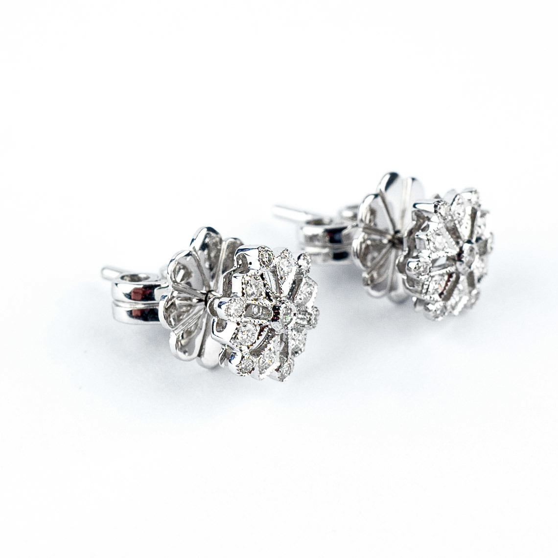 Diamond snowflake earrings