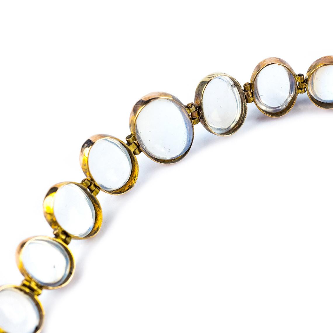 Gold and moonstone bracelet