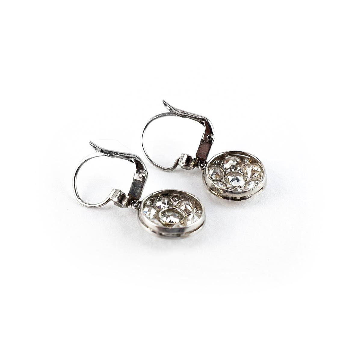 Art Deco Platinum Earrings