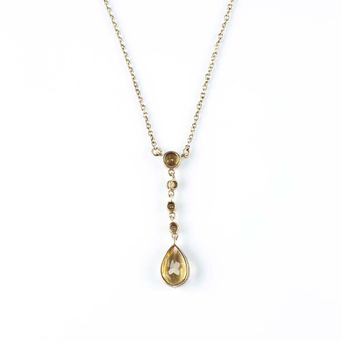Vintage citrine necklace