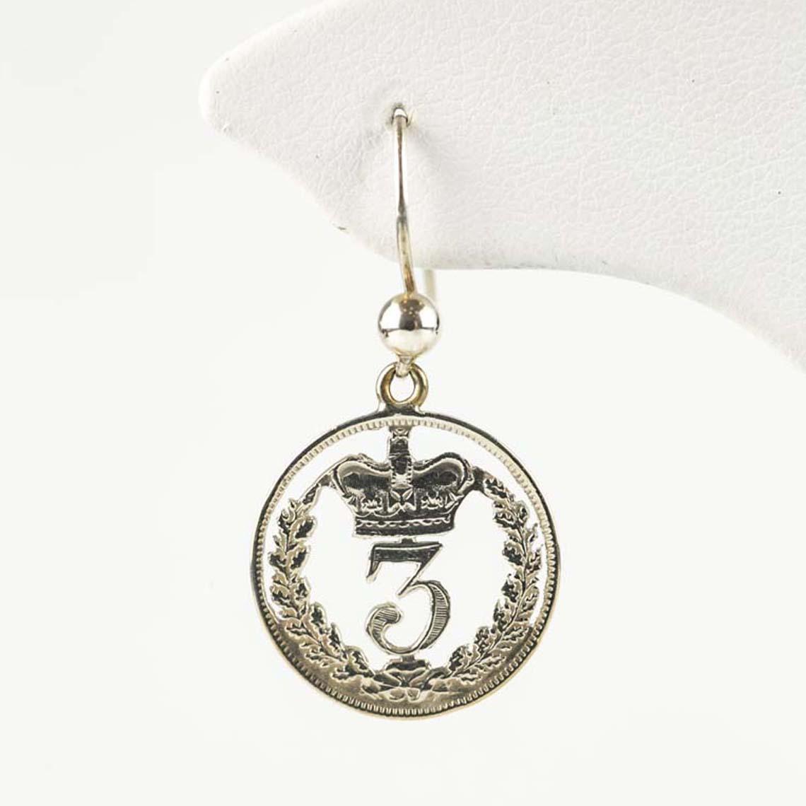 Thrupenny earrings