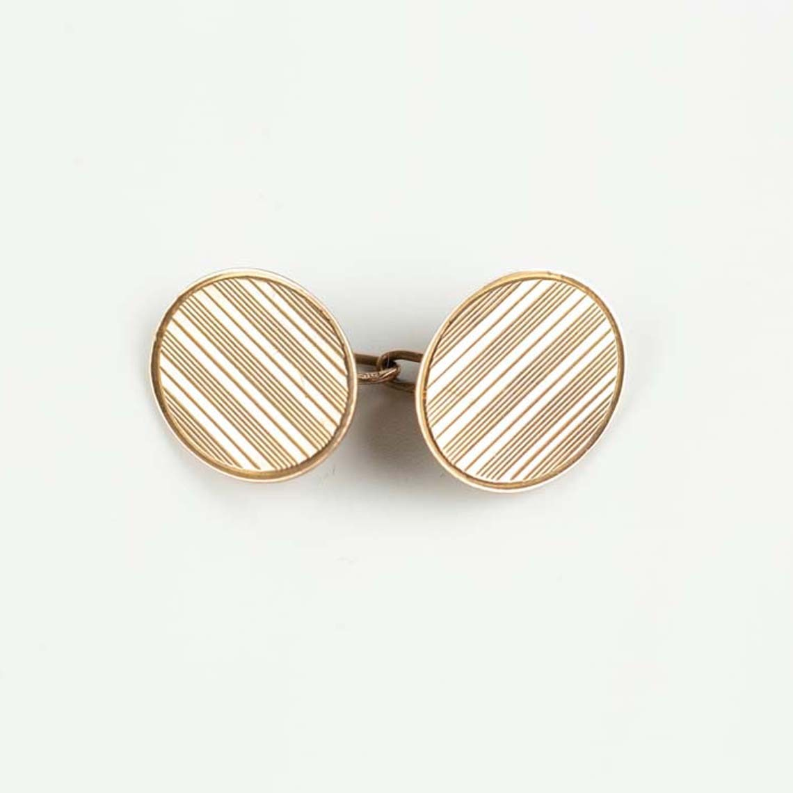Rose gold cufflinks