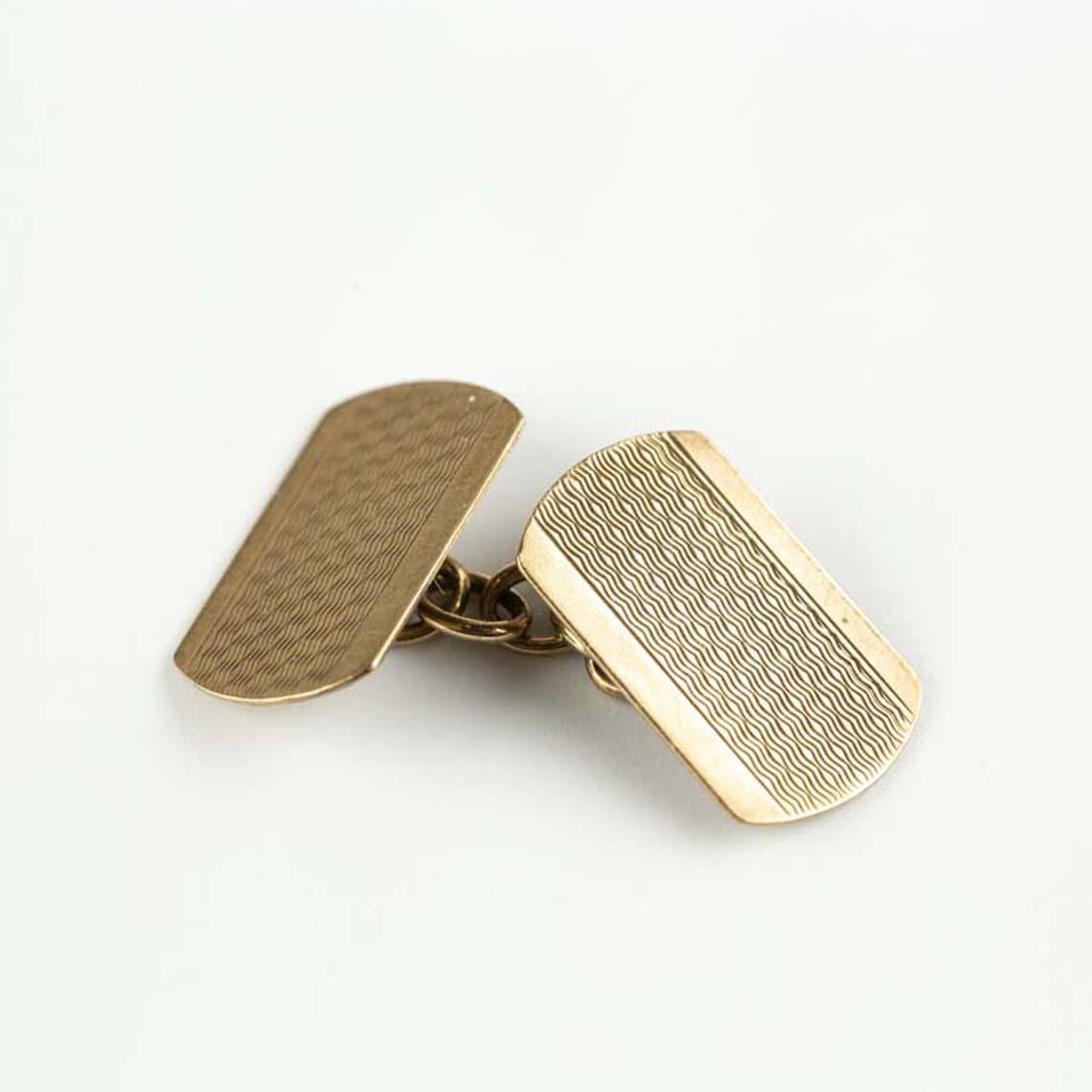 9ct yellow gold cufflinks