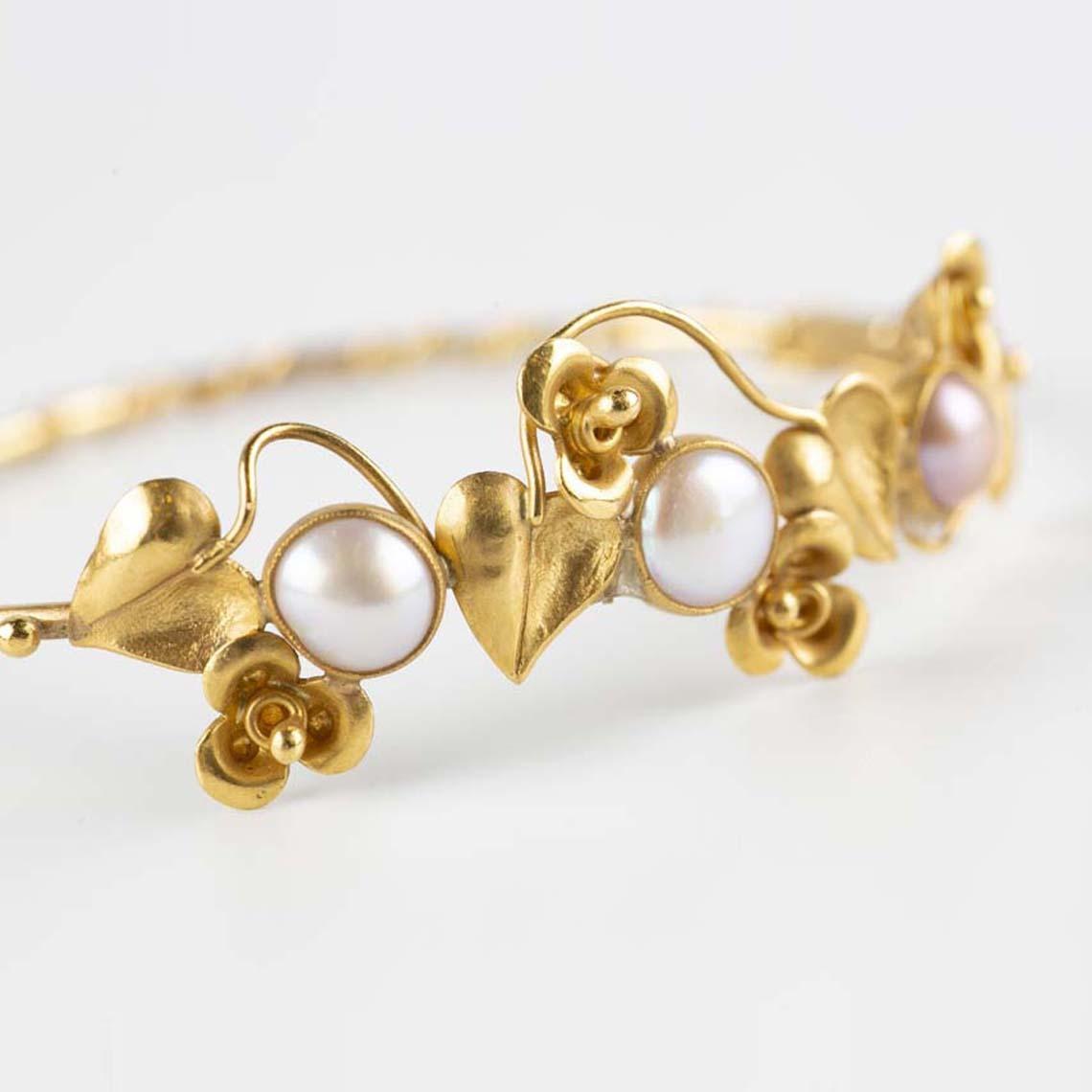 Vintage pearl bangle