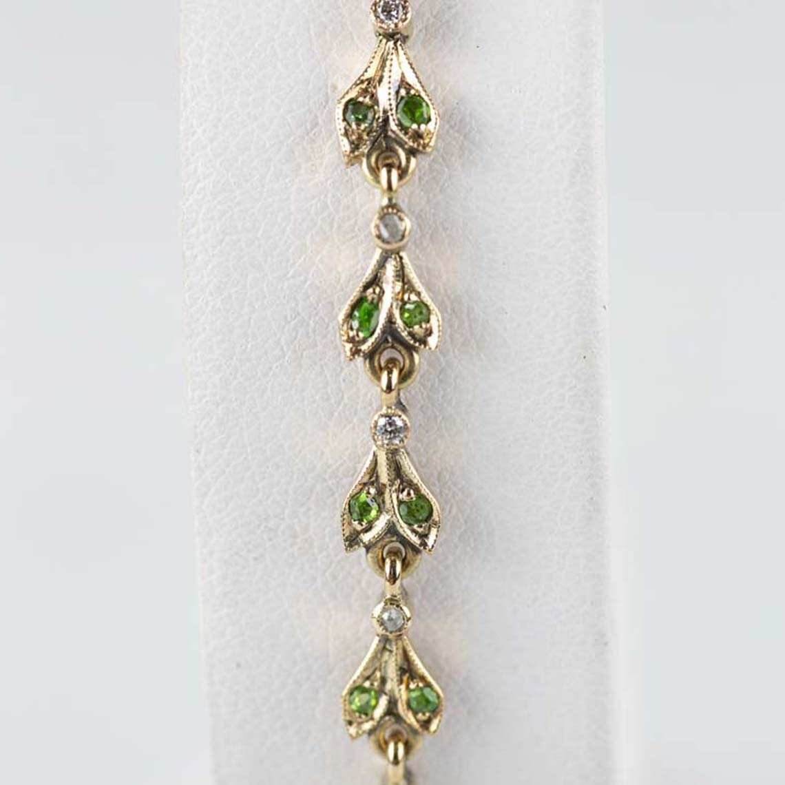 Demantoid garnet bracelet