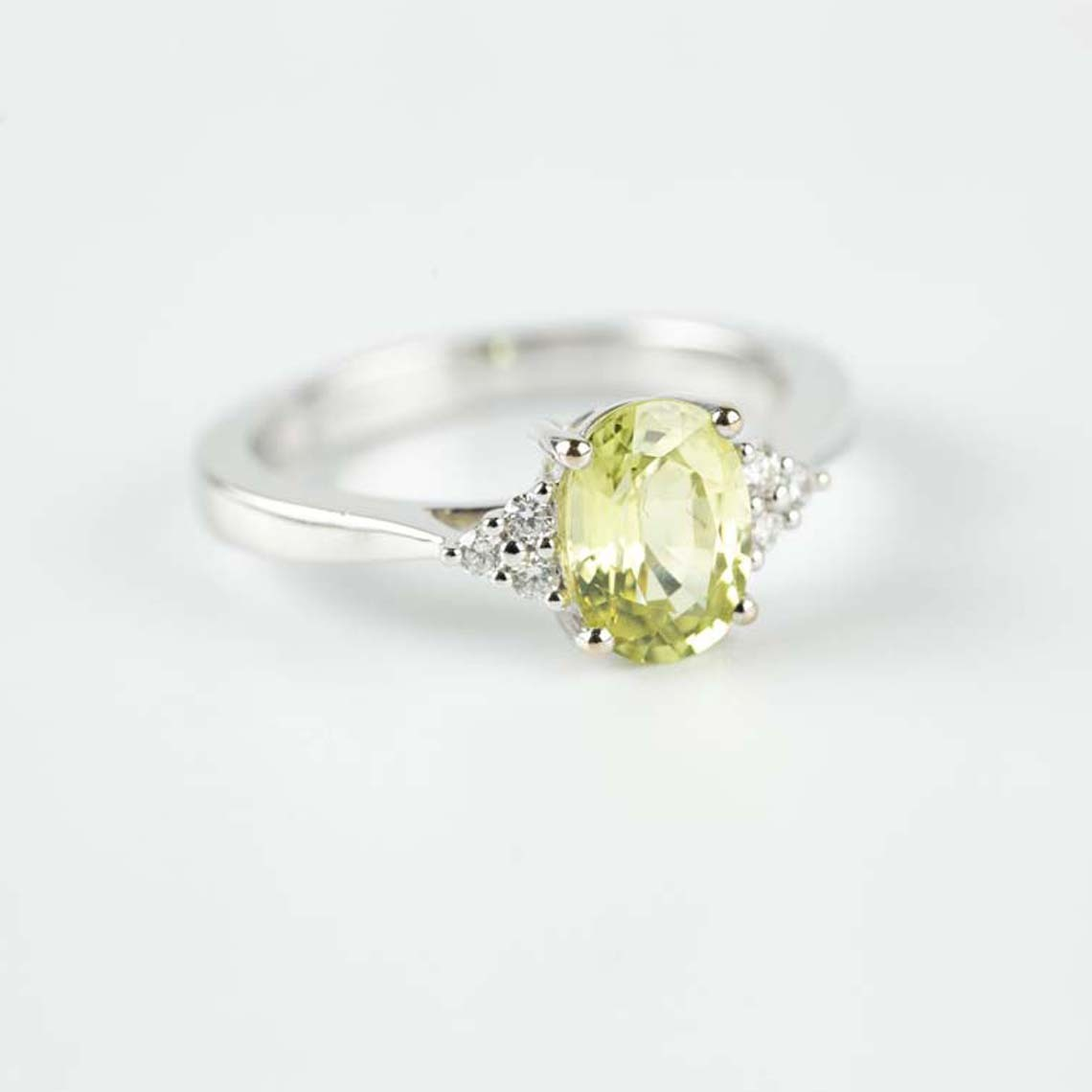 Chrysoberyl and diamond ring