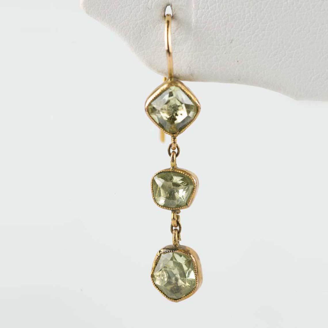 Chrysoberyl earrings