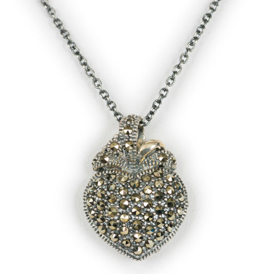 Silver Heart Shaped Pendant