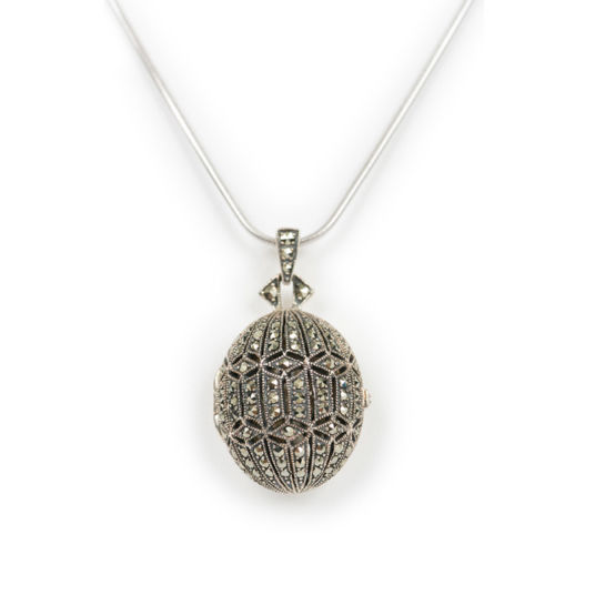 Silver Egg Shaped Locket