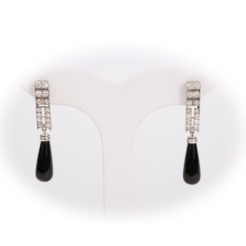 French Art Deco Diamond Earrings