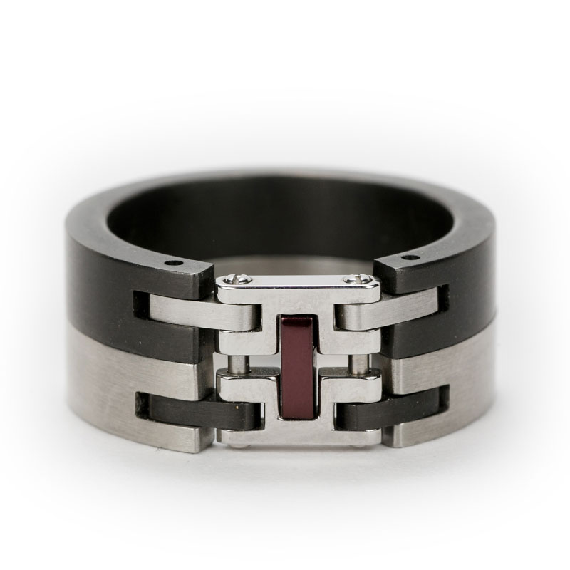 Stainless Steel - Gents Ring - Italian