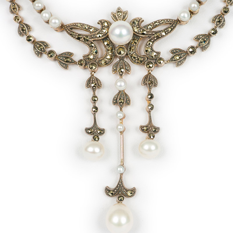 Pearl Chandelier Necklace