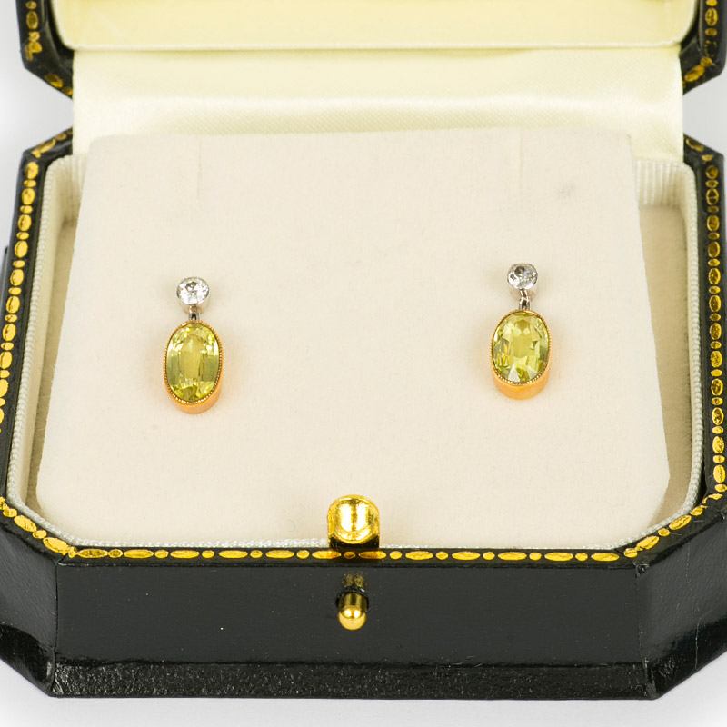 Chrysoberyl Earrings