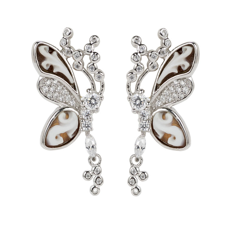 Rhodium Plated Earrings