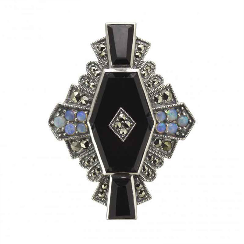 Art Deco Bar Brooch