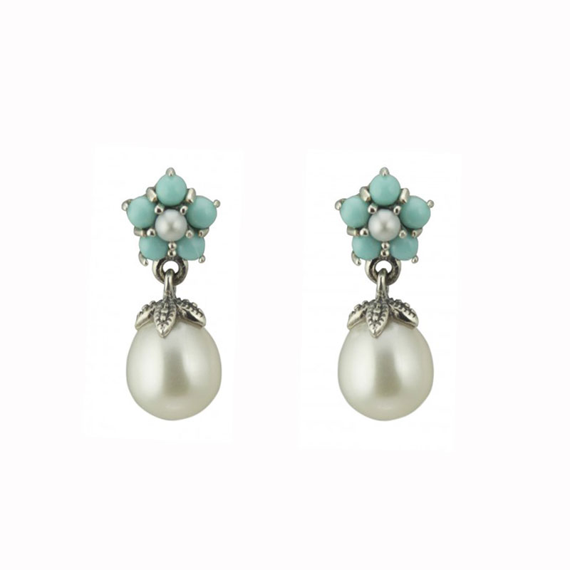 Silver Pearl Earrings