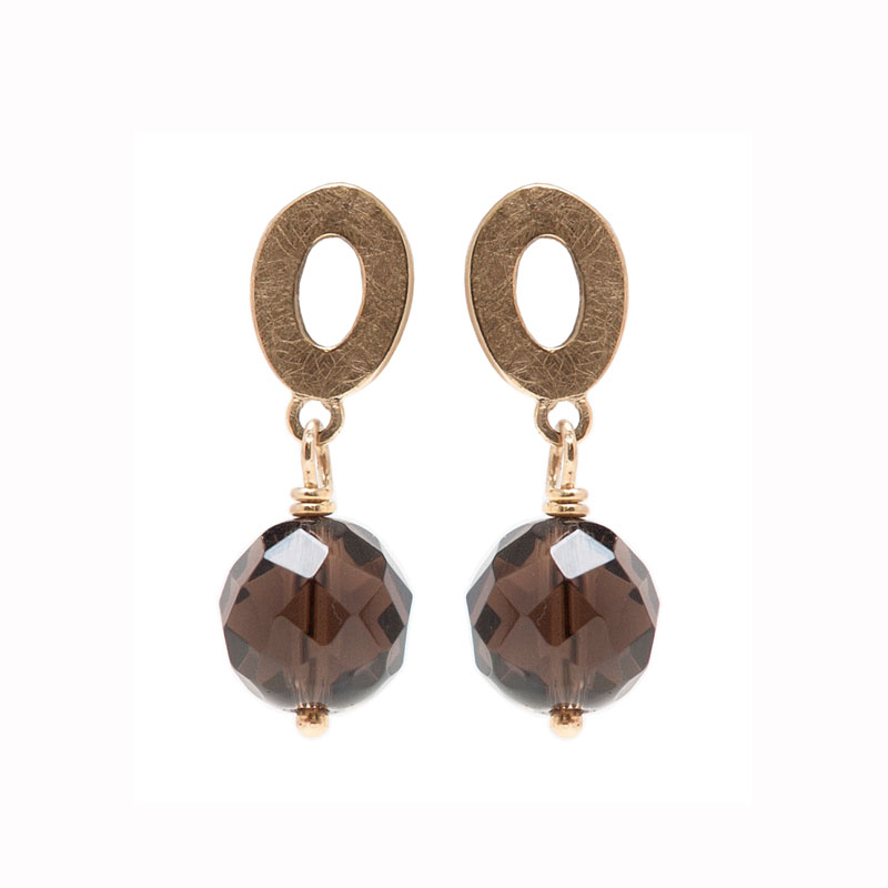 Smoked Quartz Earrings